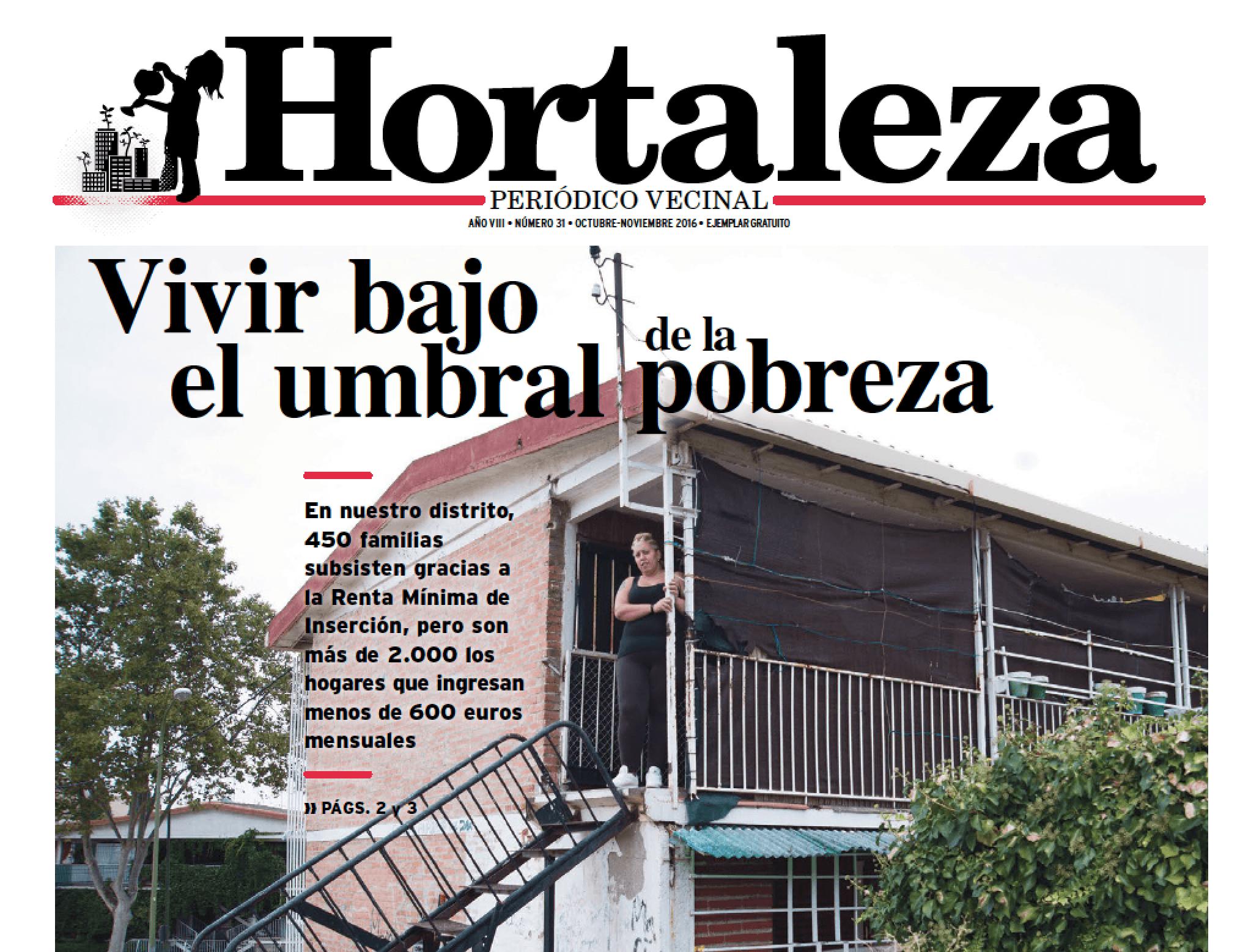 Campaña RMI en el periódico Hortaleza vecinal