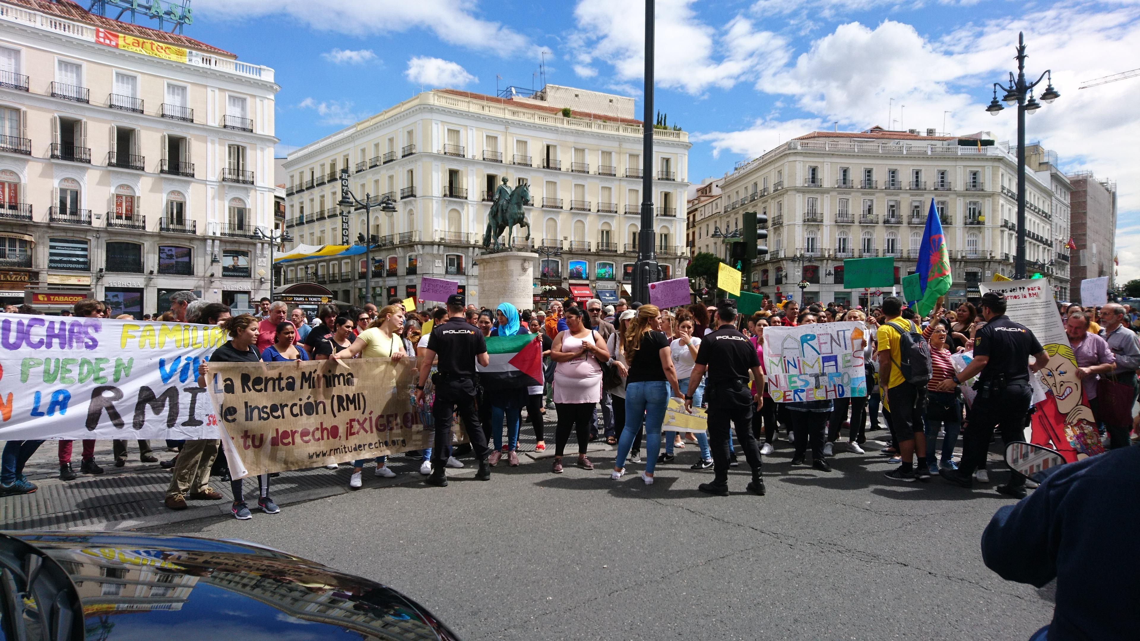 12 de junio, movilización en Sol por el derecho a la Renta Mínima