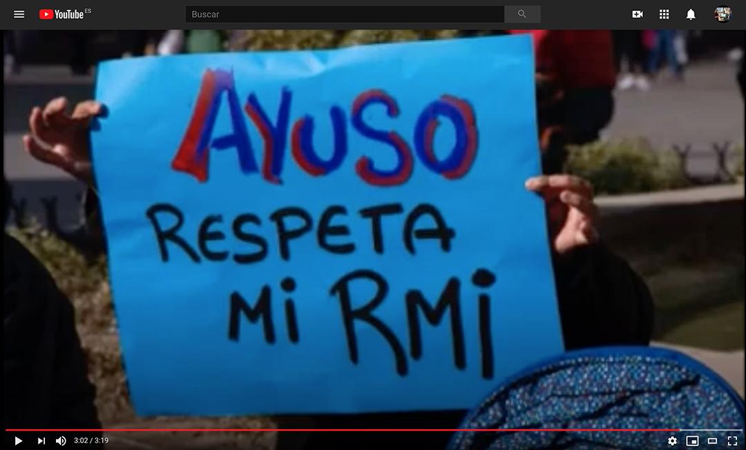 VÍDEO. Las familias perceptoras de RMI no quieren comida basura. Respuesta de Tere, Toñi y Maribel a Ayuso